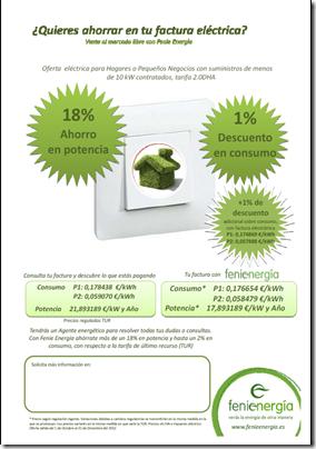 NUEVOS PRECIOS PARA LAS TARIFAS 2.0A Y 2.0DHA HASTA DICIEMBRE DE 2012 (1/3)